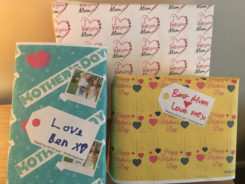 Mothers day wrapping paper designs
